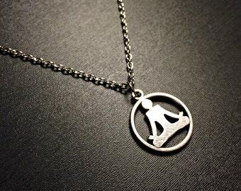 Yoga Necklace- Om Jewelry Ohm Necklace Yoga pendant Meditation Chakra Zen jewellery
