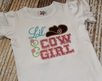 Lil Cowgirl Applique Shirt