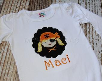 Girl Pirate Applique Shirt