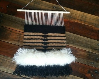 Copper and Black Fluffy Wall Hanging