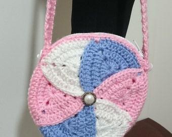 Homemade Circular Crocheted Purse