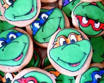 Teenage mutant ninja turtles cookies (12 cookies)