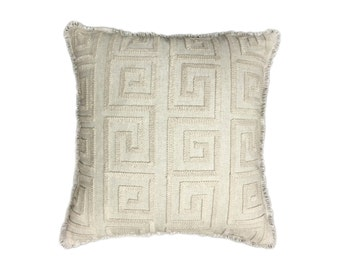 "Decorative Throw Pillow Cover-18x18 or 20""x20"" or 22""x22"" or 24""x24"" Fabulous Greekey Design."