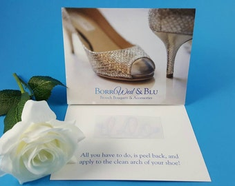 "White ""I Do"" Heart Wedding Shoe Sticker Decal Accessories"