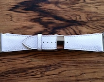Apple Watch Band 42mm/ Hand-stitched Leather with Deployment Clasp - Handmade in Japan / White/Free shipping