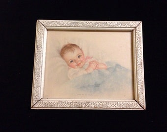 """Miniature Charlotte Becker Print """"Take Me In Your Arms""""."""