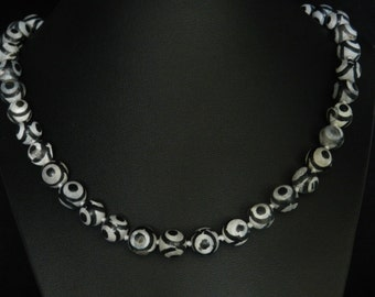 CLEARANCE * FT616 Black Agate Necklace