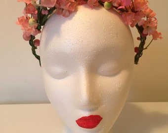 Pink Cherry Blossom Flower Crown