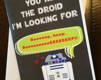 R2D2 Valentine's Card - Instant Download