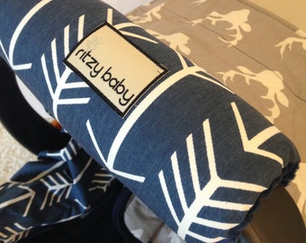 Navy Arrows Arm Pad, Your Choice of Minky, Optional Monogram