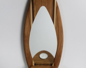 Surfboard Mirror and Candle Holder - 'Praa Sands'