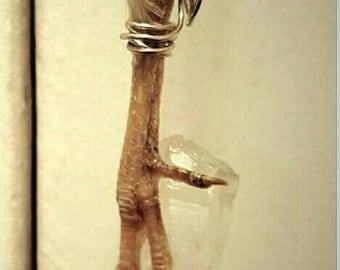 Pigeon foot Quartz necklace