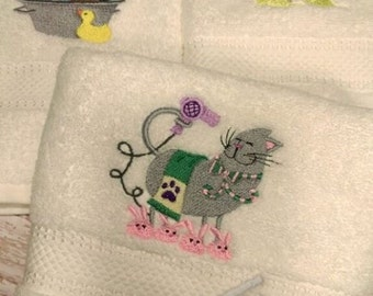 Cat Hand Towel Set