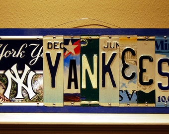 YANKEES  - custom New York Yankees license plate sign / fathers day / man cave