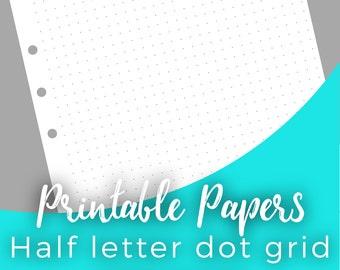 A5 dot grid paper | Etsy