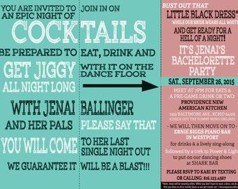 Bachelorette Party Tri-Fold Invitation (Dirty)