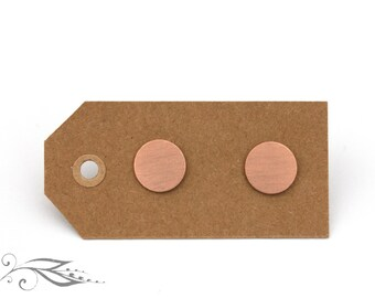 Rosé circles - hand-soldered ear studs 10 mm made of copper and stainless steel