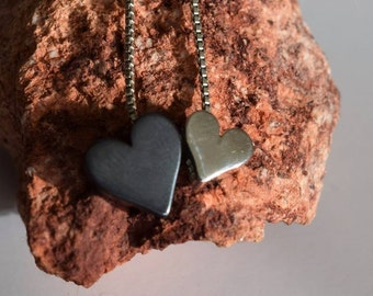 Silver Heart Slider Bead Necklace . 925 Silver. Item 119