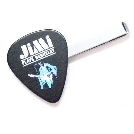 jimi hendrix tie bar clip guitar pick love hippie play. Black Bedroom Furniture Sets. Home Design Ideas