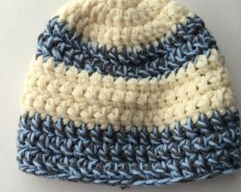 crotchet baby boy hat