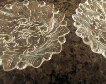 Two Vintage Indiana Glass Trinket/Candy Dishes