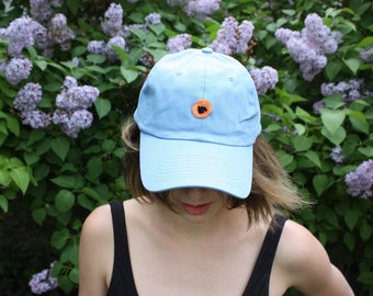 Baby Blue Poppy Baseball Cap
