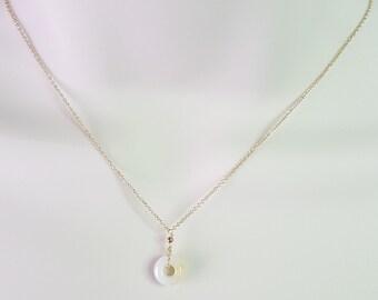 Jade pendant necklace, Gold Necklace, Pendant Necklace, Gift Necklace, Minimalist necklace