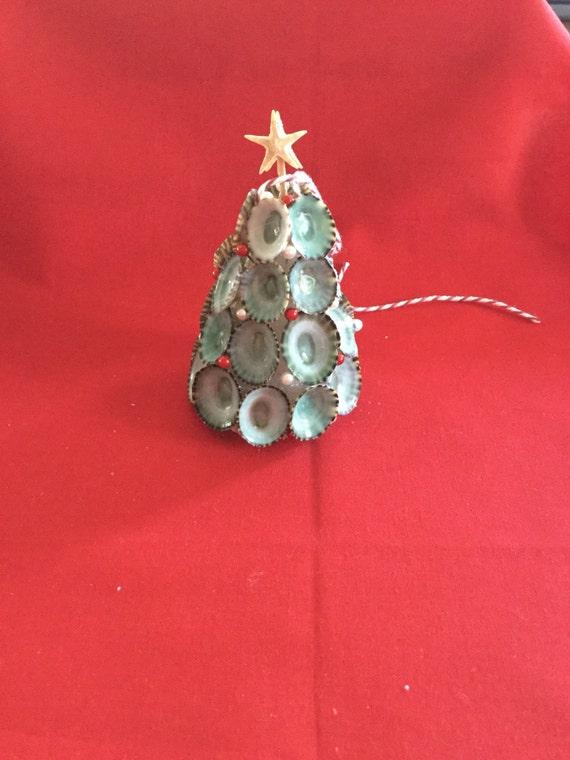 Seashell christmas tree ornament by sommersbytheshore on etsy for Christmas tree ornaments made from seashells