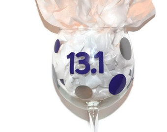 Half Marathon/Marathon Wine Glass