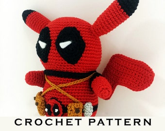 Deadpool Knitting Pattern : Totoro Pencil Case Crochet Pattern PDF