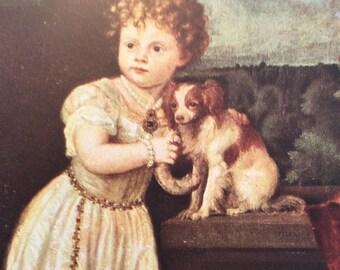The Strozzi Child, Child Painting, Dog In Painting, Tiziano Vercelli,Nobility Child In Print,Venetian School,Clarissa Strozzi,Portrait Print