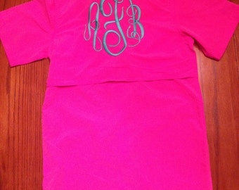 Little Girls' Fishing Shirt Swimsuit Coverup