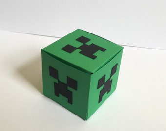 Minecraft Creeper Favor Boxes