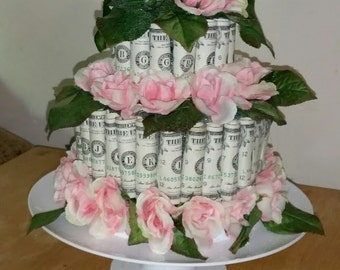 Cake Made of Money with Pedestal