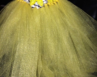 Yellow tutu with flower