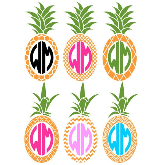Download Pineapple Monogram Cuttable Designs SVG DXF EPS use with