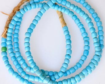 Vintage Venetian Glass Pony Beads- African Trade Beads - 4mm - Various Colors - 23-26 Inch Strand