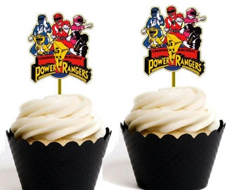 Power Rangers Toppers/Labels personalised