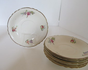 Priscilla HOUSEHOLD INSTITUTE saucers (set of 6)