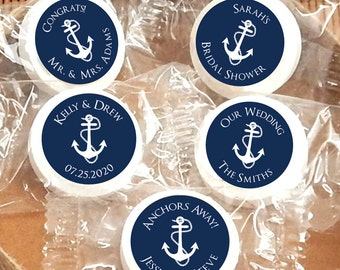 Wedding Favors Mints, Anchor Life Savers® Mints, Bridal Shower Mints, Mint For Each Other, Mint to Be - Set of 50