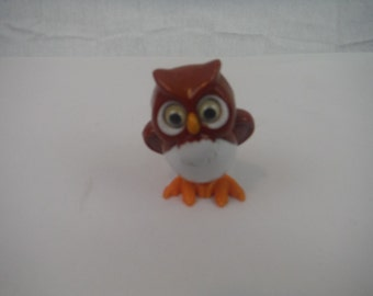 1970's TOMY Wind-up Walking Owl-toy-collectible-working-vintage