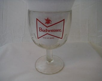 1970's King of Beers Budweiser Goblet-Vintage-Collectible-Usable