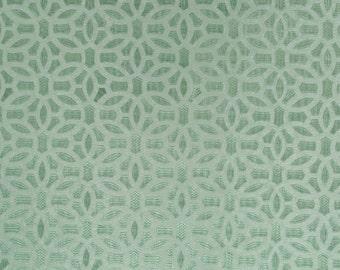 BEACON HILL ELHAM Geometric Silk Jacquard Fabric 5 Yards Surf