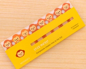 Monkey Sticky Notes - Cute Kawaii Post-It Notes / Cute Stationery / Cute Stationary / School Supplies / Stick Marker / Sticky Notes Tabs