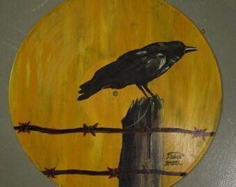 Vinyl Art-Crow