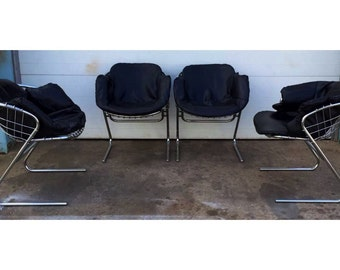 Italian Mid Century Gastone Rinaldi Chrome Chairs Price is for one