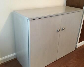 Gray With Black Glaze Shoe Storage Cabinet With Doors, Gray Shoe Cabinet  With Doors,