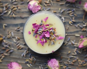 Organic Solid Perfume-Lavender Rose-Mothers Day Gift-Gift for Her-Handmade-Essential Oil Natural Perfume-Natural Vegan floral Perfume