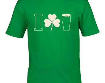 I SHAMROCK BEER - Alcohol Loving Men's Tshirt From FatCuckoo - MTS1421
