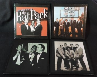 Rat Pack Ceramic TileDrink Coasters Set / Rat Pack Coaster Set / Set of 4